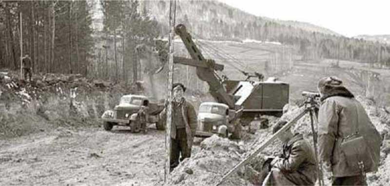 На строительстве трассы М-54